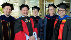 UC Merced faculty at commencement