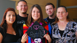 UC Merced graduate with family