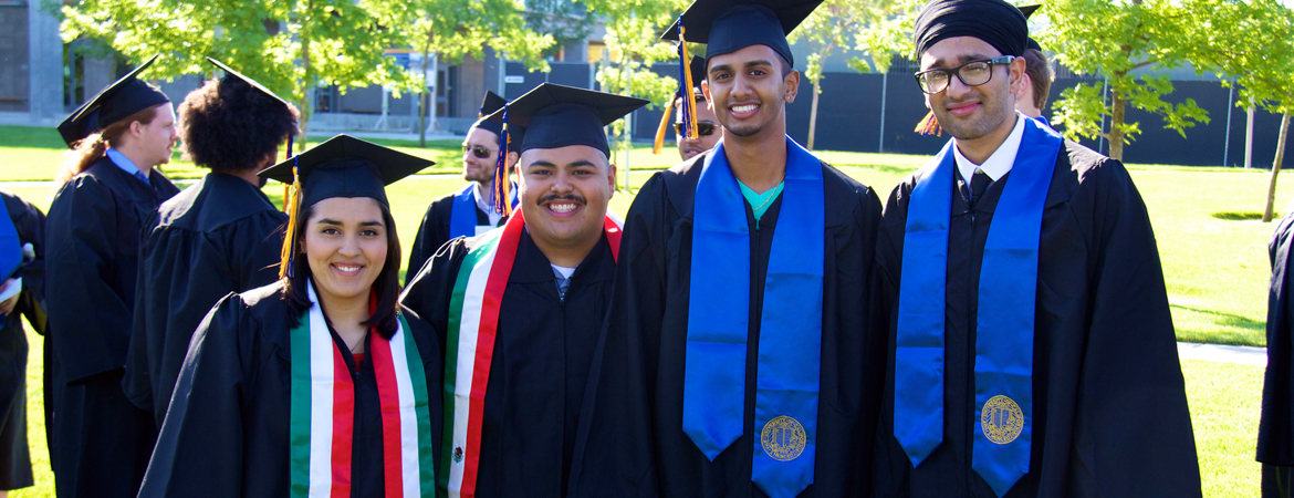 UC Merced - Graduates wearing their regalia